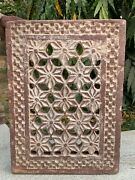 Rare Antique Stone Hand Carving Collectible Window Wall Panel Floral Jharokha