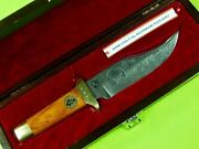 1970 Limited Sam Colt Schrade Cutlery Engraved Bowie Hunting Fighting Knife Box