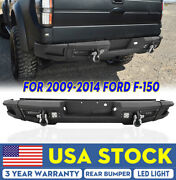 Rear Bumper Guard W/ 4x Led Work Lights Pods 2x D-rings For 2009-2014 Ford F150