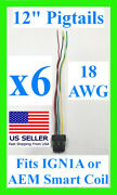 6x Fits Ign1a Aem Ignition Smart Coil Connector 12 Pigtail Plug Harness 30-2853