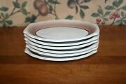 6-vintage Homer Laughlin Best China Relish Plate Shades Of Brown7-5/8x5-3/4