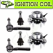 For Chevy Avalanche 1500 6pcs Ball Joint Tie Rod Wheel Bearings Parts 4wd Abs