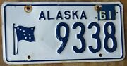 Alaska 1960 / 1961 License Plate - 9338 State Police In The 9000 Series