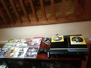 Ps3 Console Bundle Lot W/11 Games/power Cord And Controller Cord, One Controller