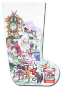 Needlepoint Handpainted Edie And Ginger Christmas Stocking Dreaming Santa 20