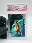 1997 Metal Universe Championship Galaxy 4 Shaquille Oand039neal Psa 9 Pop 3