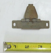 1950and039s Cadillac Lh Tail Light Gas Door Opener Lower Hinge / Plate Used Orig