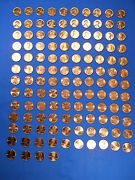 Lincoln Cent Penny Set 1953-2021 Incl 60-d Sd And 1982 Set 157 Coins Choice Bu