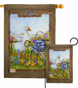 Duck And Duckies Garden Flag Birds Friends Decorative Small Gift Yard House Banner