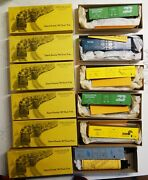 Lot Of 6 Vintage Details West Ho Scale Train Cars, In Nice Original Boxes
