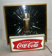 Rare Vintage 1960and039s Coca-cola Starburst Glass Lightup Sign