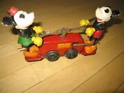 Lionel Mickey Mouse Handcar Windup Prewar Classic Toy Working Gd-v Gd Condition