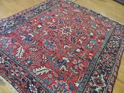 8x10 7x9 6x9 Antique Herize Oriental Area Rug Wool Hand-knotted Red Blue Navy