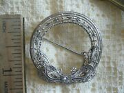 1920and039s Exquisite 14k/platinum Wreath Brooch With Vs Diamond