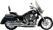 Bassani 6v13t Pro Street Exhaust System Chrome For Victory