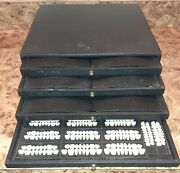 New Trubyte Dental Mould Tooth Guide Trays In Cabinet