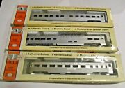 Con-cor Passenger Cars Set Of 3 2 Southern 1 Undec. Observation, Dome, Pullman