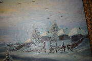 Russian Antique Painting Oil On Canvas Signed Bogatirev