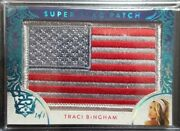 2019 Benchwarmer 25 Years Traci Bingham Super Flag Patch And039d 1/1