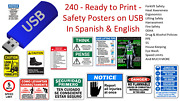 240 Ready To Print Warehouse Safety Posters On Usb Drive English And Spanish Osha
