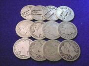 3.00 Face 90 Silver Us Silver Barber And Standing Liberty Quarters 440