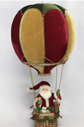 Katherine's Collection Santa In Hot Air Balloon 28-028736 New Christmas