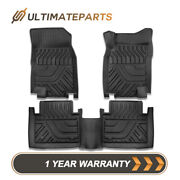 Waterproof 3d Molded Floor Mats For 2014-2020 Nissan Rogue X-trail Rubber Black