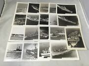 Vintage Us Navy Photos Set Of 19 Battleships Aircraft Carriers Destroyer 3.5 X 5