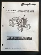 Simplicity Owner's Manual Sovereign Hydrostatic Drive 572 573-3212h