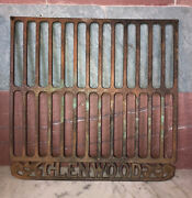 Old Glenwood Cast Iron Stove Grill Cover Plate Advertising Wall Plaque Sign