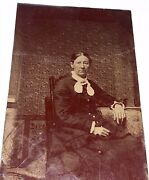 Rare Antique Victorian American Fashion Woman Stereoviewer Cards Tintype Photo