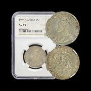 1928 South Africa Florin Silver - Ngc Au50