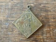 Rock Island Plow Co Advertising Watch Fob Liberty Gang Plow Implement Tractor