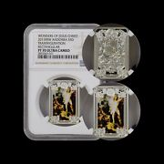 2013 Andorra 5 Diners Silver - Ngc Pf70 Uc - Top Pop 🥇 Resurrection Of Christ