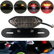 Motorcycle 16led Turn Signals Brake Light License Plate Integrated Taillight 12v