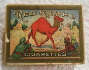 Vintage Empty Red Kamel Cigarette Pack, 1913-1917 Early Rare And Scarce Box