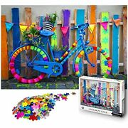 Amsterdam Vintage Bicycle Wooden Jigsaw Puzzles Adults Kids, 1000 Pieces Toys X