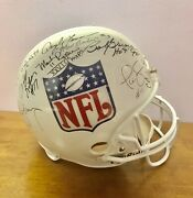 Steve Young With /7 Key Players/4 Hofers Qbs Fs Rep Helmet 15 Sigs Jsa Nfl