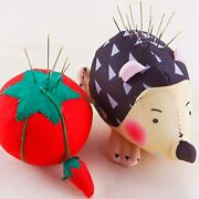 Ygoline Hedgehog Shape Pin Cushion With Tomato Cushion Sewing Funny Cute Holder