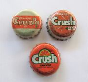 Chile Bottle Cap Orange Crush 1970 And 1980 3 Differents