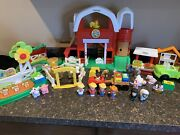 Fisher-price Little People Caring For Animals Farm Set Lot