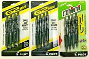 Pilot G2 Mini 0.7mm 10765 And Fine Point 31206 Black Ink Pens Lot Of 12 Total Pens