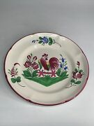 """St.clement France 61 Handpainted Rooster 9 1/2"""" Plate"""
