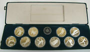 10 Sterling Silver Olympic Coin Set Calgary Canada 1988 Royal Canadian Mint