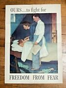 1943 Authentic Wwii Poster By-- Norman Rockwell --freedom From Fear