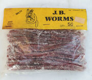 Jb Worms - 4 1/2 St Soft Plastics - Bass Candy - 50 Count - Fishing Tackle