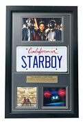 The Weeknd Starboy Signed Cd Album License Plate Framed Collage Psa Coa Auto