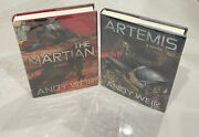The Martian + Artemis Signed Numbered Andy Weir Hardcover Subterranean Press 1st