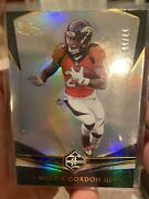 2020 Melvin Gordon Iii Panini Limited Card Numbered 17/18 Silver Holo Foil