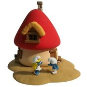 Smurfette House Fariboles With Two Figurines The Smurfs Ma1 2018
